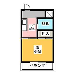ハイツサンシャイン[4階]の間取り