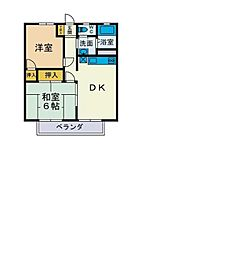 山田ハイツ[102号室]の間取り
