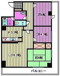 南浦和パインマンション[8階]の間取り