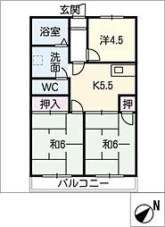 メゾン桑田[2階]の間取り