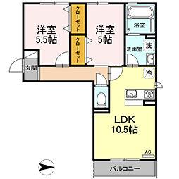 仮)D-room今保 B棟[2階]の間取り