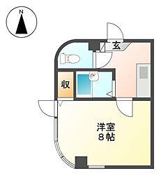 カミングビル[4階]の間取り