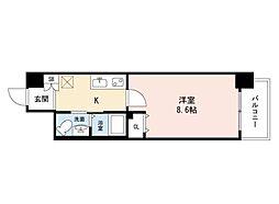 JINO新町(ジーノシンマチ) 9階1Kの間取り
