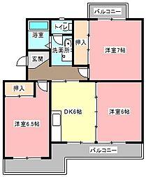 カゼェルBIG[2階]の間取り