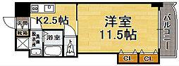 福岡県福岡市博多区博多駅前1丁目の賃貸マンションの間取り