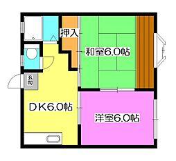 レヂデンス上新井[1階]の間取り