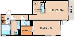 兵庫県神戸市兵庫区兵庫町2丁目の賃貸アパートの間取り