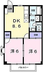兵庫県姫路市延末の賃貸アパートの間取り