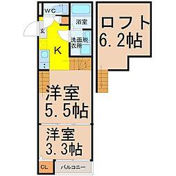 中川区野田一丁目デザイナーズ[1階]の間取り