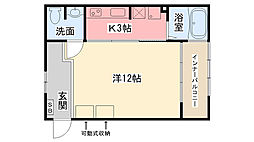 T−CUBE甲子園[201号室]の間取り
