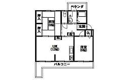 円明寺ヶ丘団地[L棟104号室]の間取り