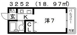 プチメゾン滝谷[203号室号室]の間取り