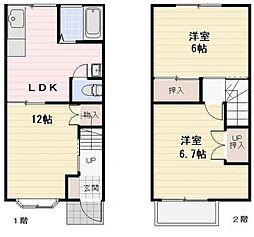 [テラスハウス] 神奈川県大和市つきみ野3丁目 の賃貸【/】の間取り