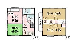布川コーポ[1階]の間取り