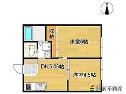リゾートハイツ・久保田[202号室]の間取り