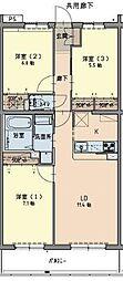兵庫県西宮市甲子園浦風町の賃貸マンションの間取り