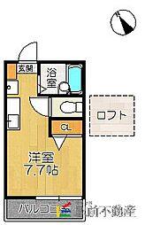 風雅2号館[102号室]の間取り