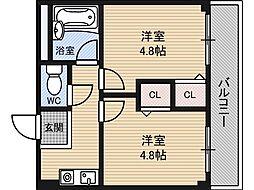 木川東エクセルハイツ[1階]の間取り