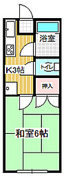 サンハイツアカシヤ[202号室]の間取り