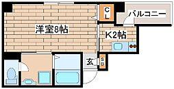 神戸市海岸線 ハーバーランド駅 徒歩9分の賃貸マンション 7階1Kの間取り