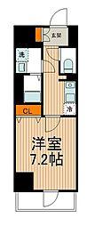 東武伊勢崎線 東向島駅 徒歩2分の賃貸マンション 2階1Kの間取り