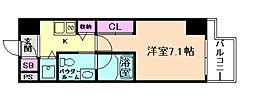 リンクハウス京町堀[10階]の間取り