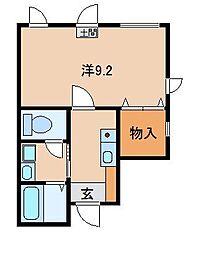 和歌山県和歌山市市小路の賃貸マンションの間取り