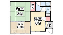 [一戸建] 兵庫県川西市美園町 の賃貸【兵庫県 / 川西市】の間取り