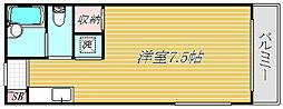 東京都墨田区菊川2丁目の賃貸マンションの間取り