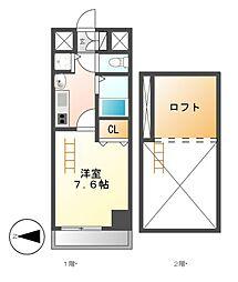 プレサンス名古屋駅前アクシス[7階]の間取り