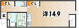 エトワール・ド・ヒサノ[3階]の間取り