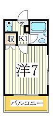 ハイム江戸川台[2階]の間取り