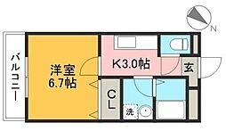 sanctuary〜サンクチュアリ〜[301号室]の間取り