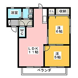 バリュージュ桜台[2階]の間取り