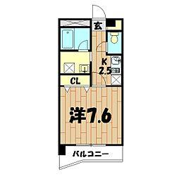 プリマヴェーラ[402号室]の間取り