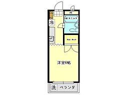ロイヤル橋本[4階]の間取り