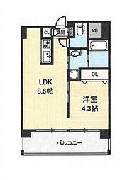 地下鉄今里駅 徒歩1分 新築マンション[6階]の間取り