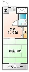 メルマン酒井[1階]の間取り