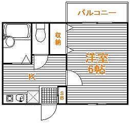 東京都練馬区西大泉1の賃貸アパートの間取り