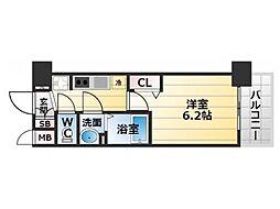 Osaka Metro堺筋線 恵美須町駅 徒歩5分の賃貸マンション 8階1Kの間取り