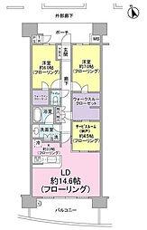 モデラピークス戸塚villa5[6階]の間取り