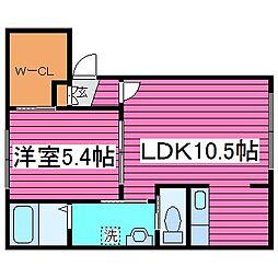 北海道札幌市東区北三十六条東24丁目の賃貸アパートの間取り
