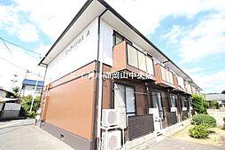 岡山県岡山市北区川入の賃貸アパートの外観
