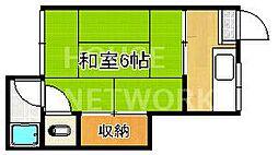 堤荘[201号室号室]の間取り