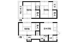 [一戸建] 兵庫県西宮市瓦林町 の賃貸【/】の間取り