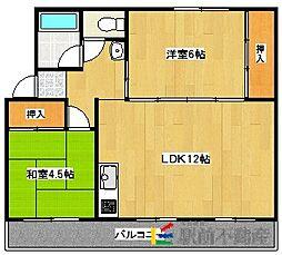 大藪アパート2[6号室]の間取り