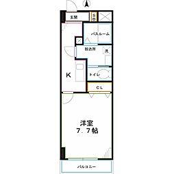 JR中央本線 西国分寺駅 徒歩12分の賃貸マンション 4階1Kの間取り