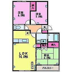 ベルエール富士[3階]の間取り