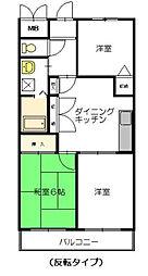 東戸塚ハイム[3階]の間取り