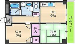 ファーストハイツ駒川[504号室]の間取り